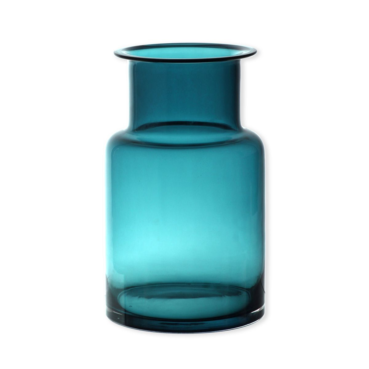 vase en verre turquoise forme bouteille pacific cm. Black Bedroom Furniture Sets. Home Design Ideas