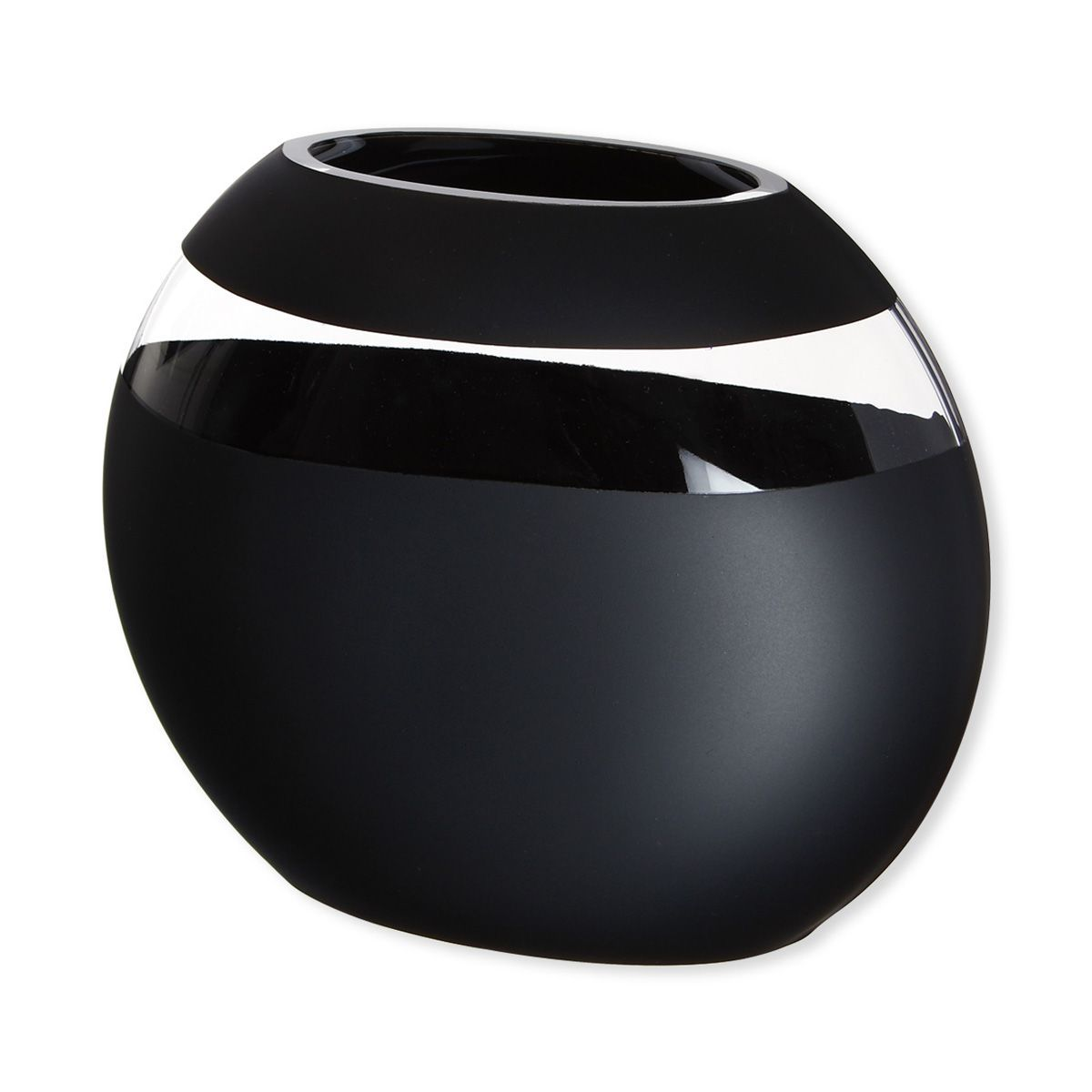vase verre aur a noir cm bruno evrard cr ation. Black Bedroom Furniture Sets. Home Design Ideas