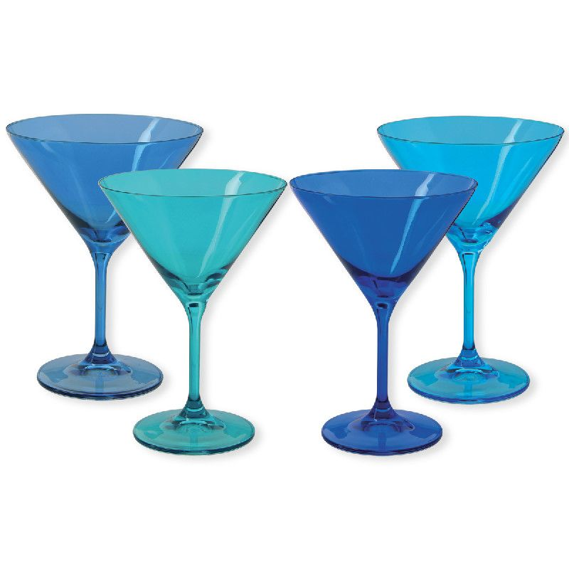 Verre cocktail kador bleu 35cl set de 4 bruno evrard - Livraison cocktail scandinave ...