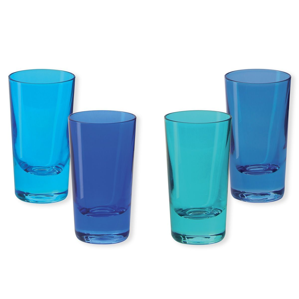 verre shooter kador bleu 6cl set de 4 bruno evrard cr ation. Black Bedroom Furniture Sets. Home Design Ideas