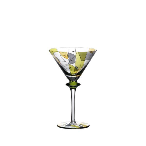 verre cocktail buca vitrail vert art de la table. Black Bedroom Furniture Sets. Home Design Ideas