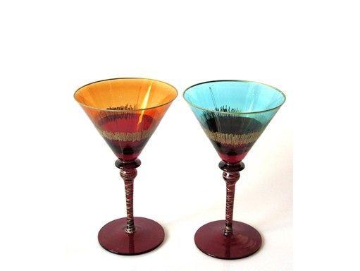 verre cocktail design buca gold l gance bo te de 4 art de la table. Black Bedroom Furniture Sets. Home Design Ideas