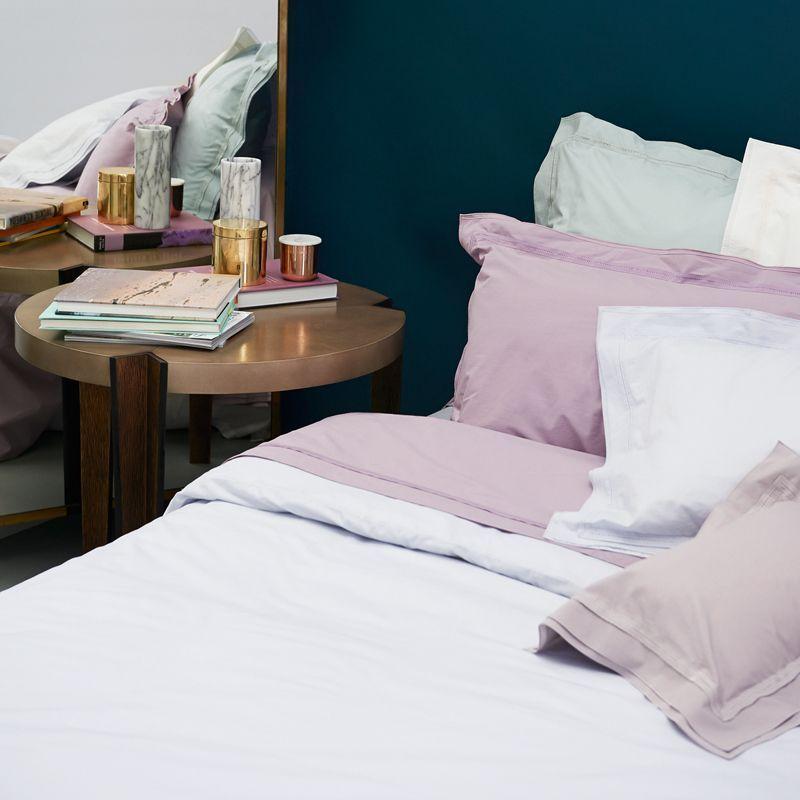 drap housse point du jour soie percale 160x200 linge de maison. Black Bedroom Furniture Sets. Home Design Ideas