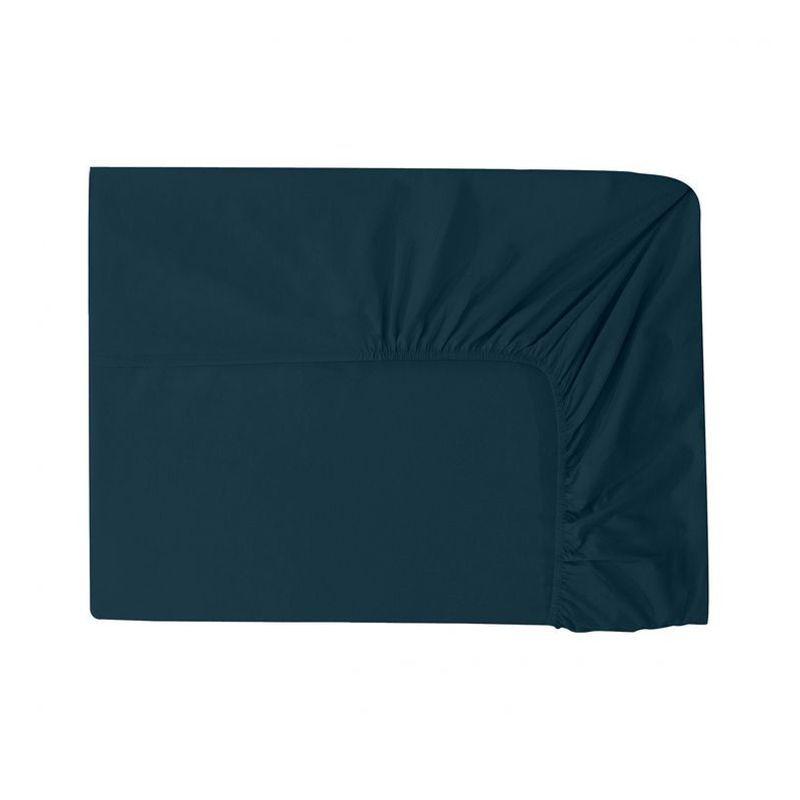 drap housse uni point du jour nuit percale 90x190 linge de maison. Black Bedroom Furniture Sets. Home Design Ideas