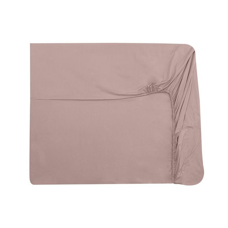 Drap housse uni percale point du jour blush 90x190 nina for Draps housse percale