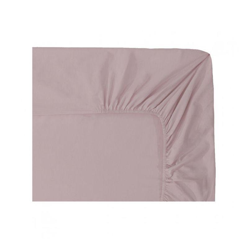 drap housse uni percale point du jour glycine 160x200 nina ricci maison. Black Bedroom Furniture Sets. Home Design Ideas