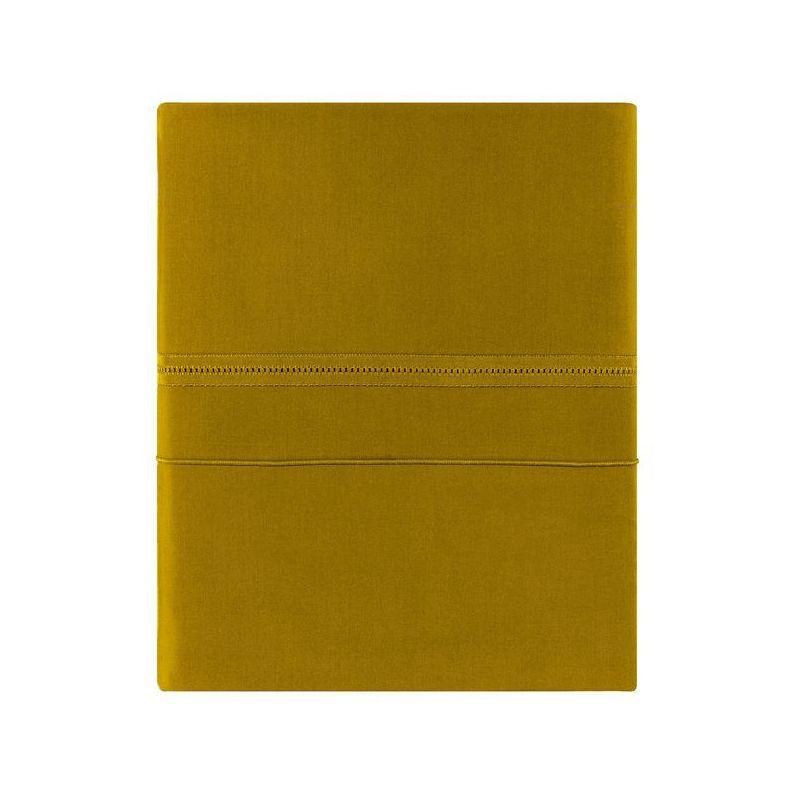 Housse de couette uni percale point du jour ambre 140x200 for Housse de couette liou