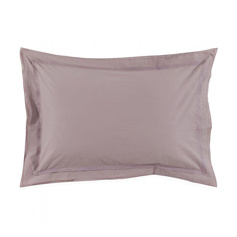 taie d 39 oreiller uni point du jour glycine percale 50x75 linge de maison. Black Bedroom Furniture Sets. Home Design Ideas