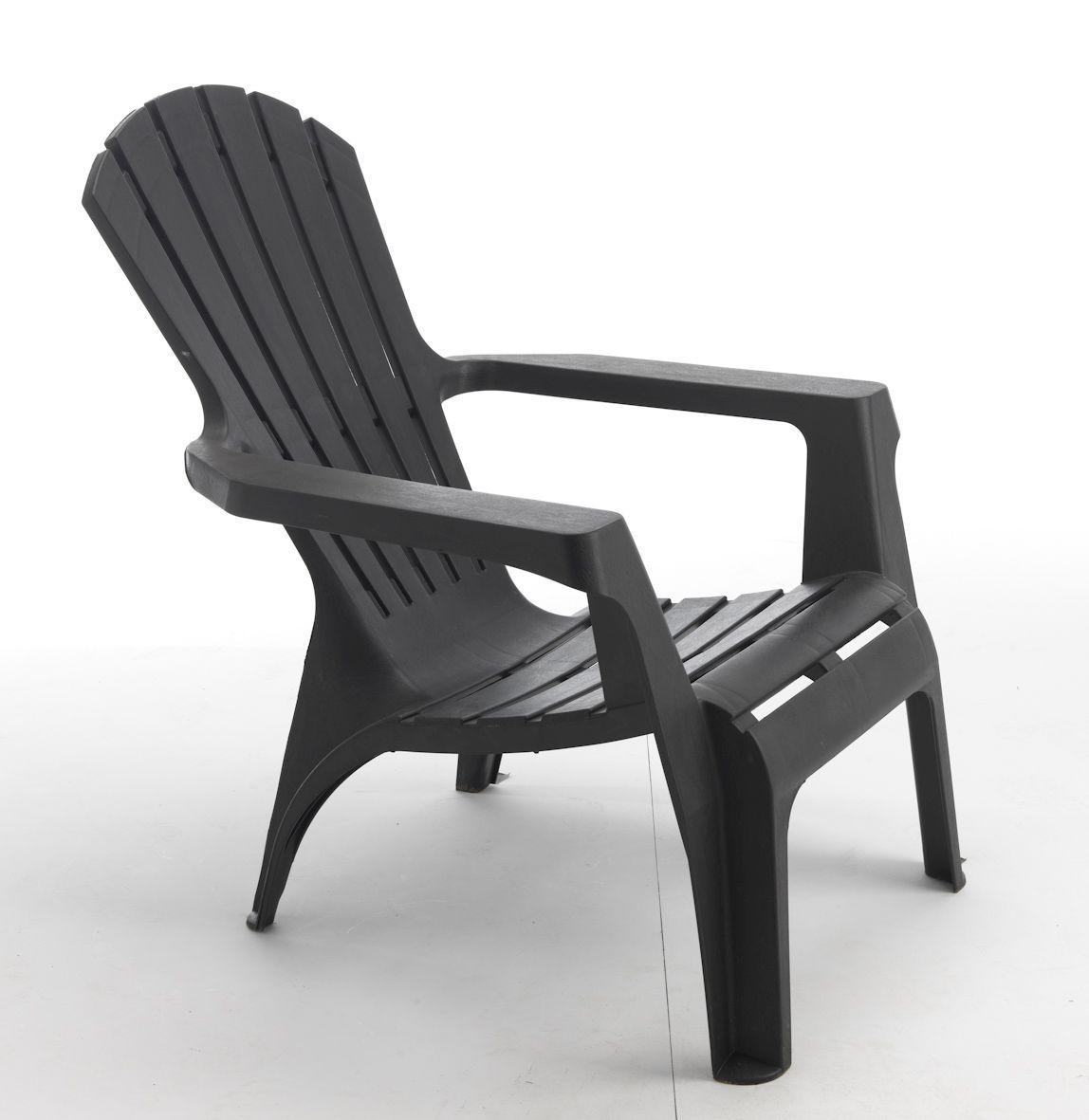 fauteuil de jardin adirondack anthracite wilsa garden. Black Bedroom Furniture Sets. Home Design Ideas