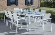 Salon de jardin Whitestar blanc 8 places - Wilsa Garden