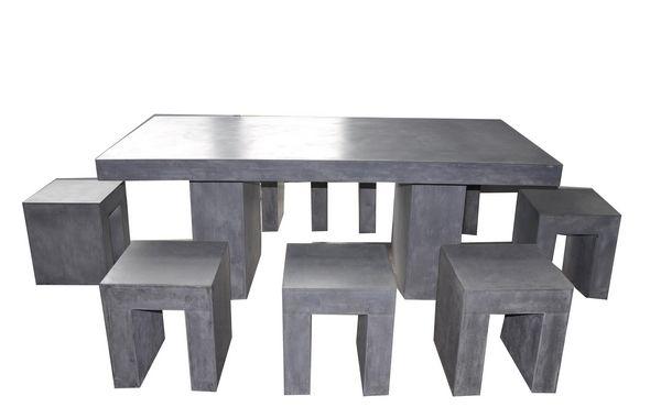 Stunning Table Jardin Resine Imitation Beton Images - Amazing ...