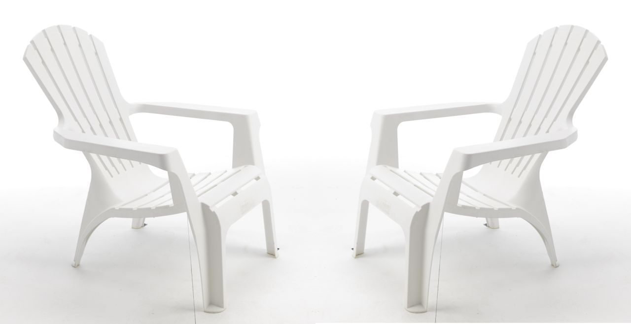 set de 4 fauteuils de jardin adirondack blanc wilsa garden. Black Bedroom Furniture Sets. Home Design Ideas