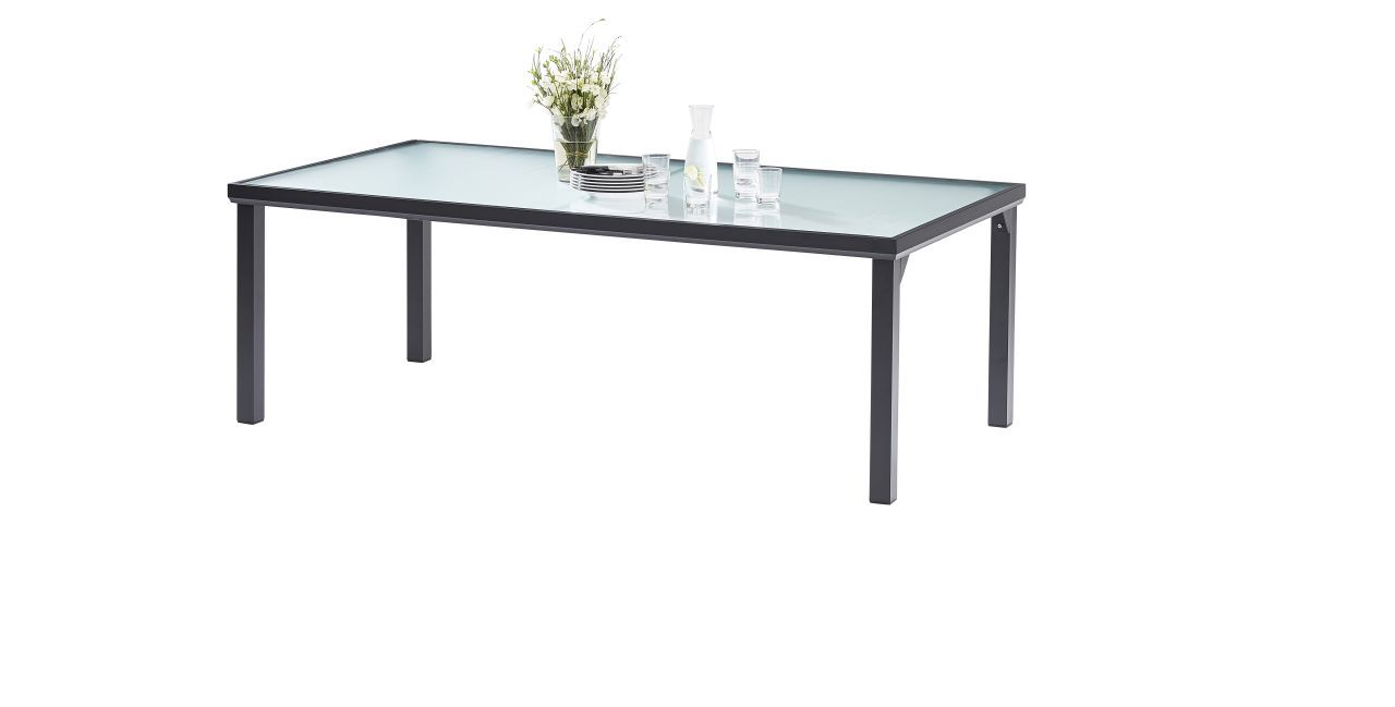 Table d 39 ext rieur blacksun 8 places noir wilsa garden for Table exterieur noire