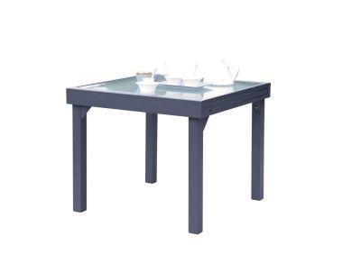 table de jardin modulo gris anthracite 4 8 places l90 180 cm meubles de jardin. Black Bedroom Furniture Sets. Home Design Ideas