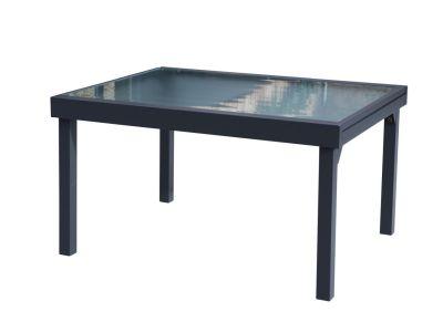 table de jardin modulo gris anthracite 6 10 places l135 270 cm meubles de jardin. Black Bedroom Furniture Sets. Home Design Ideas