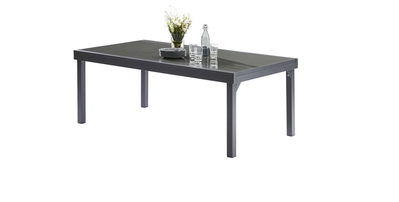 table de jardin modulotex grise 8 12 places wilsa garden. Black Bedroom Furniture Sets. Home Design Ideas