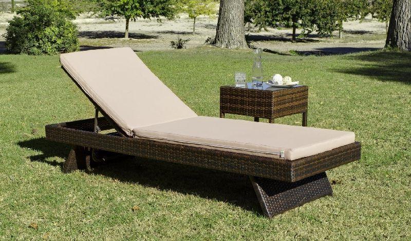 bain de soleil r sine minerva nautic avec coussins beige meubles de jardin. Black Bedroom Furniture Sets. Home Design Ideas