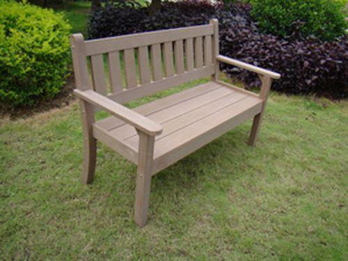Banc Brown Bench résine aspect bois foncé 2 places ...