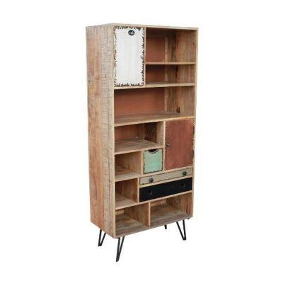 biblioth que tag re manguier fusion 8 niches. Black Bedroom Furniture Sets. Home Design Ideas