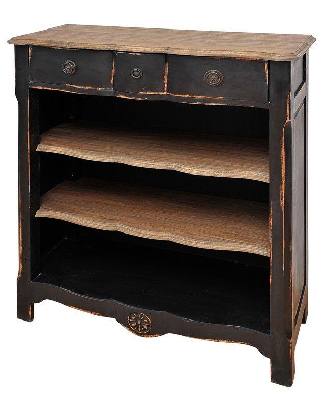 bibus acajou aaron noir antique bois brul 90x37x106 mobilier. Black Bedroom Furniture Sets. Home Design Ideas