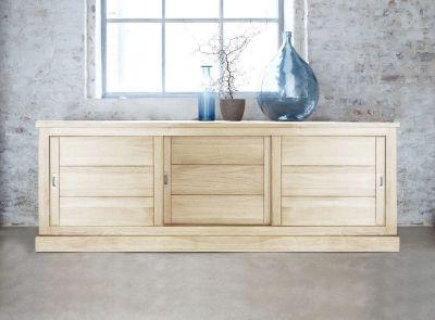 buffet bas ch ne naturel sabl 3 portes toronto mobilier. Black Bedroom Furniture Sets. Home Design Ideas