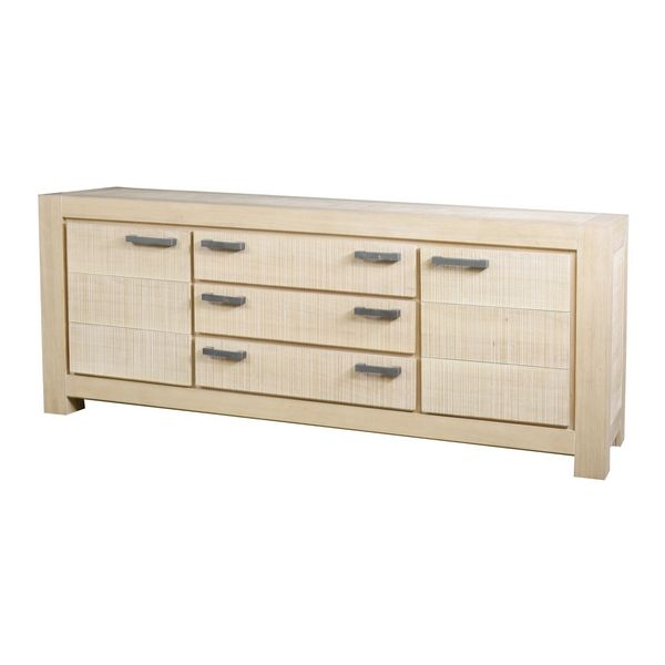 buffet ch ne massif dounia gris sable 2 portes 3 tiroirs mobilier. Black Bedroom Furniture Sets. Home Design Ideas
