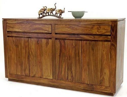 Buffet palissandre massif 2 portes 2 tiroirs mobilier - Table en palissandre massif ...