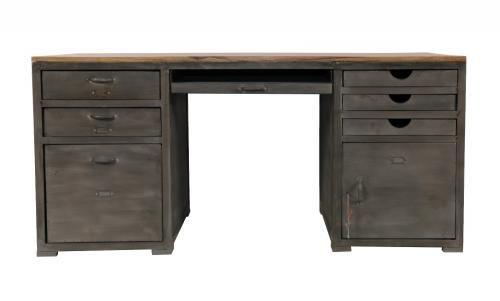 Bureau bois et métal loft mobilier decotaime