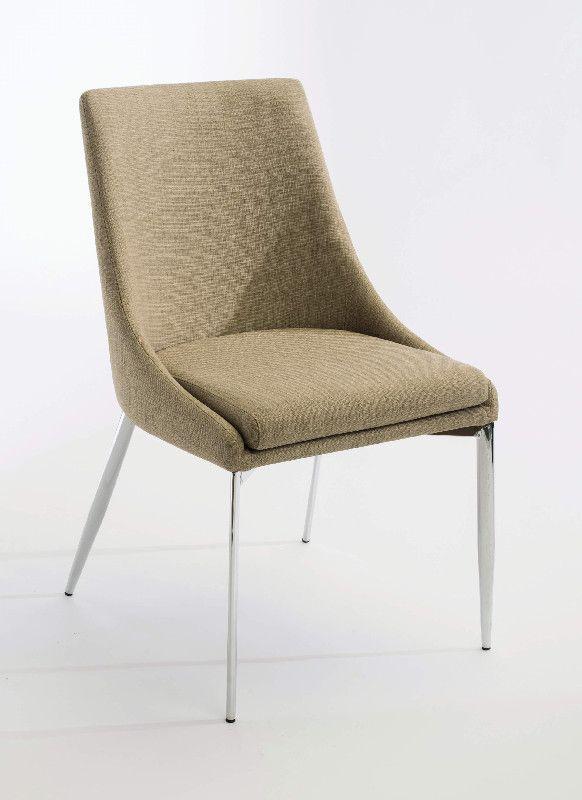 Chaise Tissu Beige : chaise chloe tissu beige mobilier ~ Teatrodelosmanantiales.com Idées de Décoration
