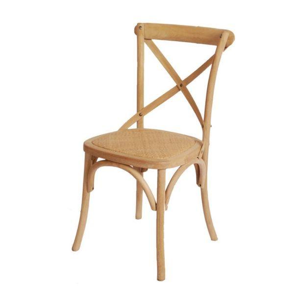 Chaise bouleau massif et cannage for Meuble bouleau massif