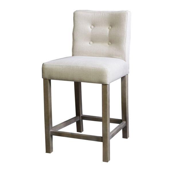 Chaise de bar capitonn e boutons lin h95 - Chaise de bar confortable ...