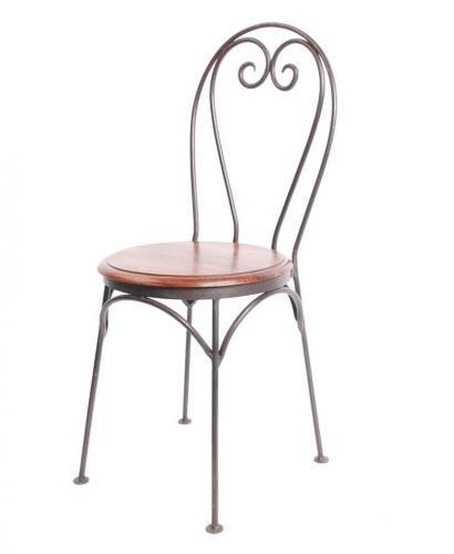 chaise palissandre fer forg coeur mobilier. Black Bedroom Furniture Sets. Home Design Ideas
