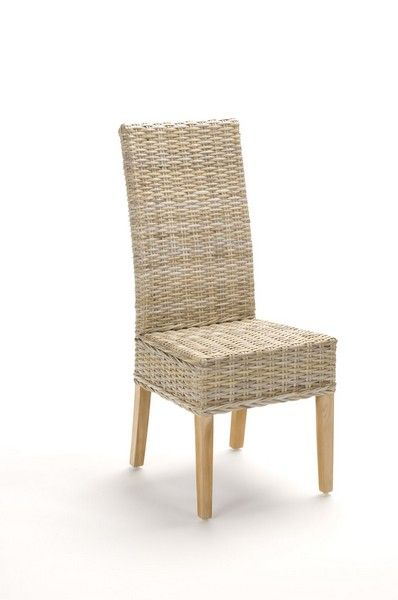 Chaise rotin rebecca for Chaise salle a manger en kubu