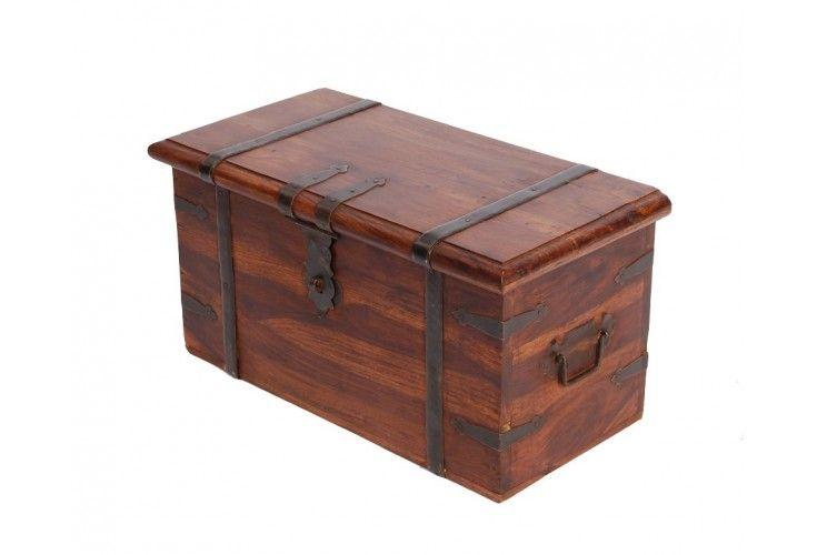 coffre de rangement palissandre massif petit mod le mobilier. Black Bedroom Furniture Sets. Home Design Ideas