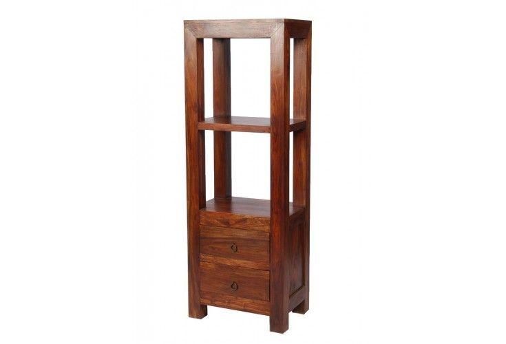 colonne palissandre massif zen 2 tiroirs 1 tag re. Black Bedroom Furniture Sets. Home Design Ideas