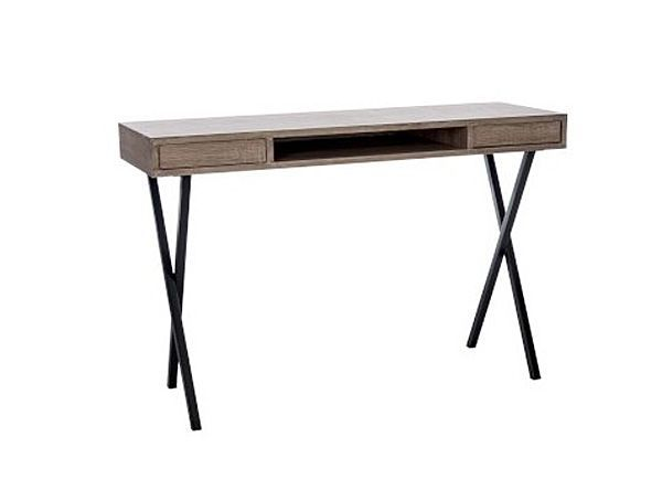 console moderne mdf aspect ch ne clair. Black Bedroom Furniture Sets. Home Design Ideas