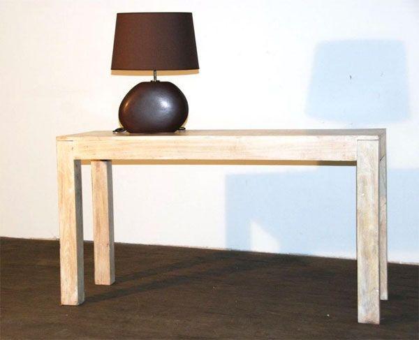 console bois blanc oc an mobilier. Black Bedroom Furniture Sets. Home Design Ideas