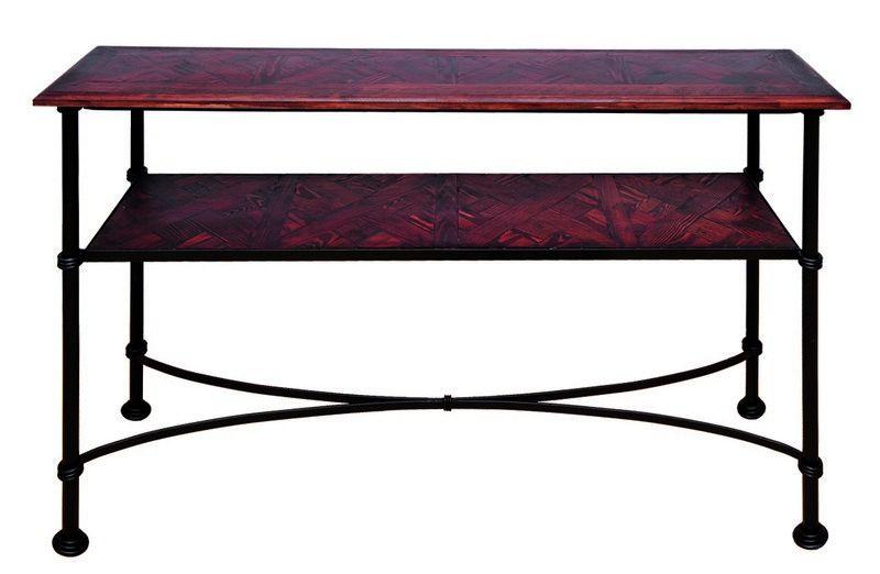 console fer forg bois recycl allen 113x32x79. Black Bedroom Furniture Sets. Home Design Ideas