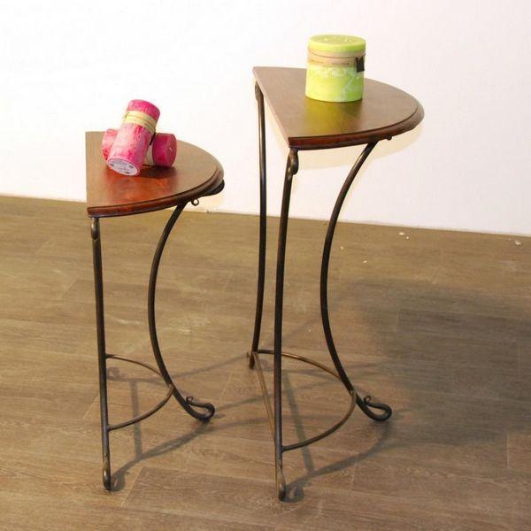 console palissandre et fer forg mm mobilier. Black Bedroom Furniture Sets. Home Design Ideas