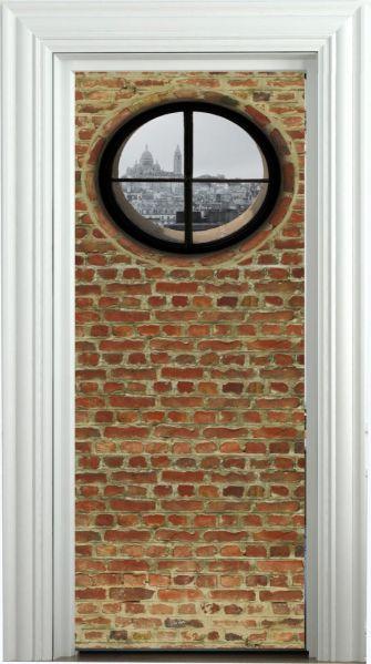 D cor de porte aimant d cor de porte oeil de boeuf 90x205 for Porte decorative