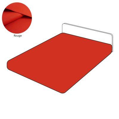 drap housse lin 105 fils cm uni rouge 140x200 linge de maison. Black Bedroom Furniture Sets. Home Design Ideas
