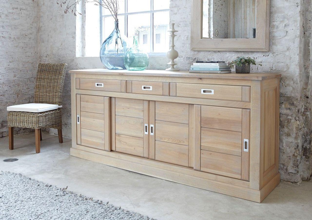 enfilade ch ne naturel sabl 4 portes 3 tiroirs toronto. Black Bedroom Furniture Sets. Home Design Ideas