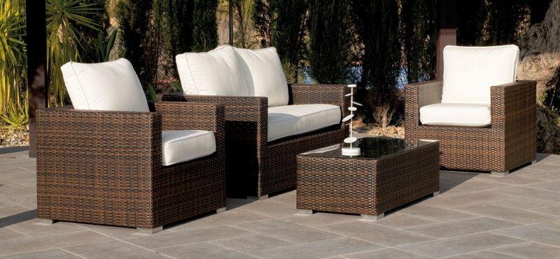 Ensemble de jardin résine tressée Nova canapé 2 pl+2 fauteuils+table basse