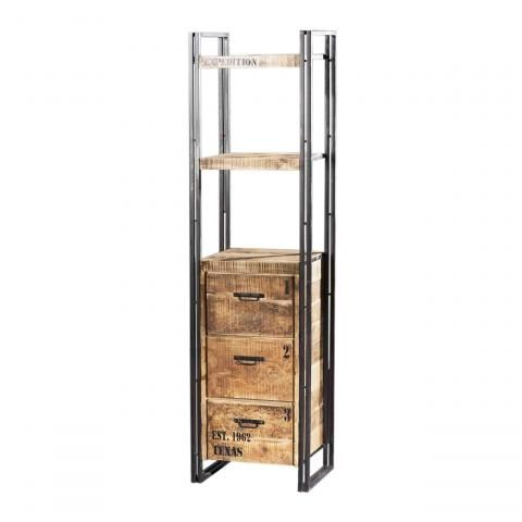 etagere fer et bois. Black Bedroom Furniture Sets. Home Design Ideas