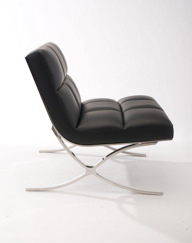 fauteuil acier alliance noir. Black Bedroom Furniture Sets. Home Design Ideas