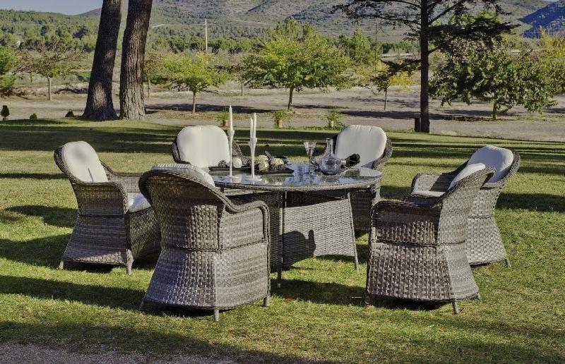 Fauteuil de jardin r sine mahon avec coussin lot de 2 - Coussin de fauteuil de jardin ...