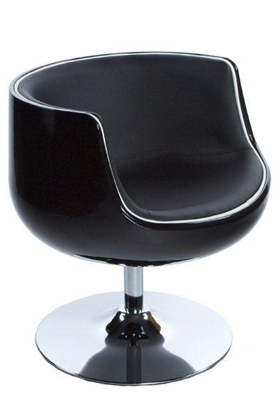 fauteuil design coque boule noir noir mobilier. Black Bedroom Furniture Sets. Home Design Ideas