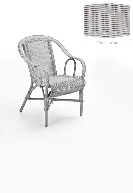 fauteuil rotin crapaud gris lumi re decotaime distribution. Black Bedroom Furniture Sets. Home Design Ideas