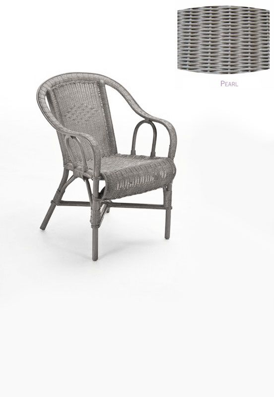 fauteuil rotin crapaud gris perle mobilier. Black Bedroom Furniture Sets. Home Design Ideas