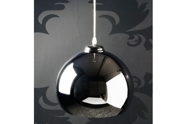 lampe suspendue design claudie chrome. Black Bedroom Furniture Sets. Home Design Ideas
